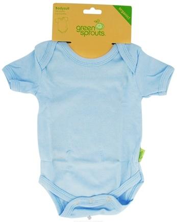 DROPPED: Green Sprouts - Bodysuit Organic Newborn Blue 0-3 Months CLEARANCE PRICED