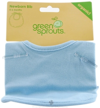 DROPPED: Green Sprouts - Newborn Bib Organic Blue 0-6 Months