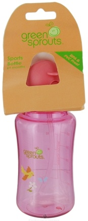 DROPPED: Green Sprouts - Sports Bottle 6 Months and Up Pink - 12 oz.