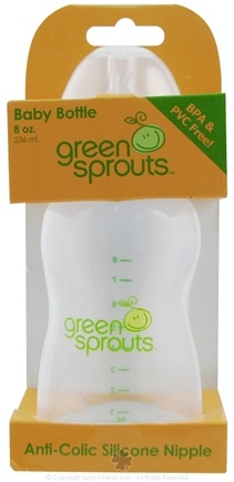 DROPPED: Green Sprouts - Baby Bottle With Anti-Colic Silicone Nipple - 8 oz.