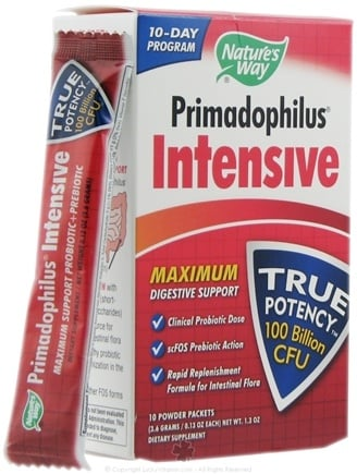 DROPPED: Nature's Way - Primadophilus Intensive - 10 Packet(s) CLEARANCED PRICED