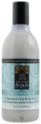 DROPPED: One With Nature - Dead Sea Mineral Body Wash Dead Sea Mud Fragrance Free - 12 oz. CLEARANCE PRICED