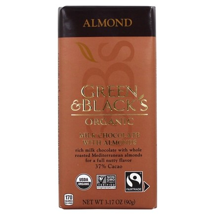 Green & Black's Organic - Chocolate Bar 37% Cacao Almond Milk Chocolate - 3.5 oz.
