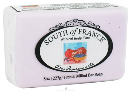 DROPPED: South of France - French Milled Vegetable Bar Soap Acai Pomegranate - 8 oz.