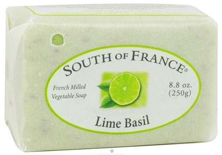 DROPPED: South of France - French Milled Vegetable Bar Soap Lime Basil - 8.8 oz.