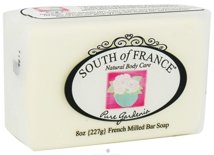 DROPPED: South of France - French Milled Vegetable Bar Soap Pure Gardenia - 8 oz.