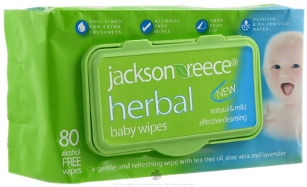 DROPPED: Jackson Reece - Herbal Baby Wipes - 80 Wipe(s)