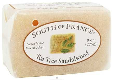 DROPPED: South of France - French Milled Vegetable Bar Soap Tea Tree and Sandalwood - 8 oz. CLEARANCE PRICED