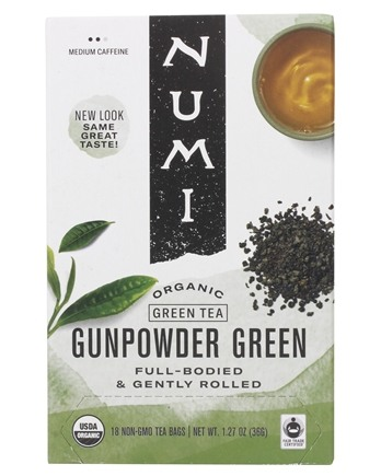 Numi Organic - Green Tea Gunpowder - 18 Tea Bags