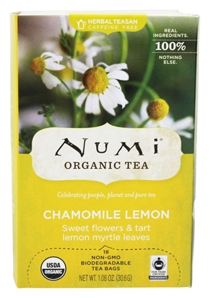 Numi Organic - Herbal Tea Chamomile Lemon - 18 Tea Bags