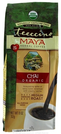 Zoom View - Maya Herbal Coffee Chai Medium Roast Organic