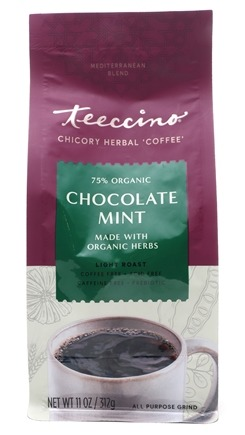 Teeccino - Mediterranean Herbal Coffee 75% Organic Chocolate Mint - 11 oz.