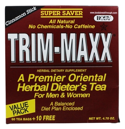 Zoom View - Trim-Maxx Cinnamon Stick Herbal Dieter's Tea For Men and Women