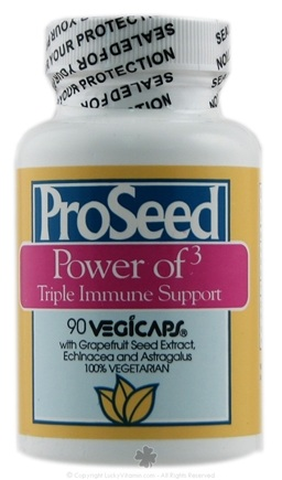 DROPPED: ProSeed - Power of 3 Triple Immune Support with Grapefruit Seed Extract - 90 Vegetarian Capsules