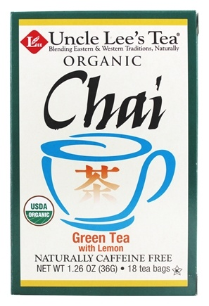 Zoom View - 100% Organic Chai Green Tea Low Caffeine