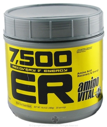 DROPPED: Amino Vital - 7500 ER Amino Acid Supplement Arctic Lemon - 480 Grams CLEARANCE PRICED