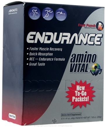 DROPPED: Amino Vital - Endurance To-Go Fruit Punch - 5 Packet(s)