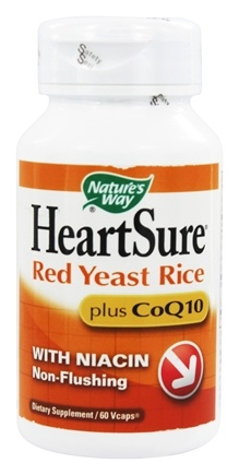Nature's Way - HeartSure Red Yeast Rice plus CoQ10 - 60 Vegetarian Capsules