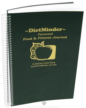 DROPPED: MemoryMinder Journals - DietMinder Personal Food & Fitness Journal - 1 Book CLEARANCE PRICED