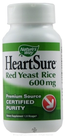 DROPPED: Nature's Way - HeartSure Red Yeast Rice 600 mg. - 120 Vegetarian Capsules CLEARANCE PRICED