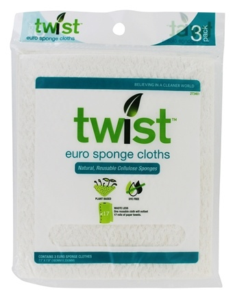 Twist - Euro Sponge Cloths White - 3 Pack