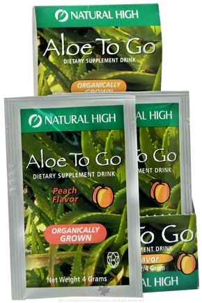 DROPPED: Natural High - Aloe To Go Drink Mix Packet Peach Flavor Peach Flavor - 4 Grams
