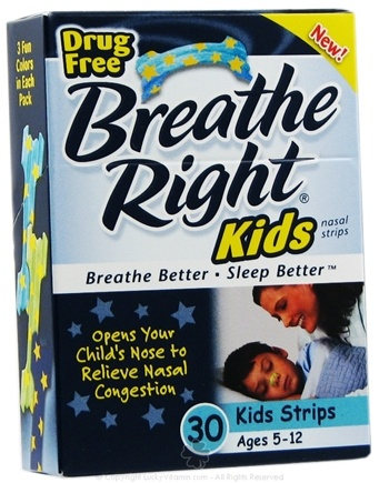 DROPPED: Breathe Right - Kids Nasal Strips - 30 Strip(s)