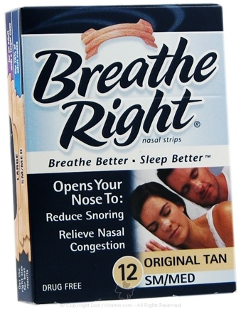 DROPPED: Breathe Right - Nasal Strips Original Tan Small/Medium CLEARANCE PRICED - 12 Strip(s)