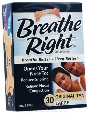 DROPPED: Breathe Right - Nasal Strips Original Large Tan - 30 Strip(s) CLEARANCE PRICED