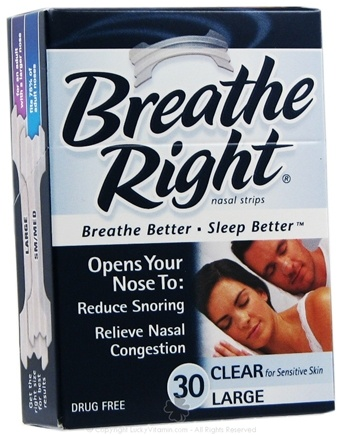 DROPPED: Breathe Right - Nasal Strips Large Clear - 30 Strip(s)