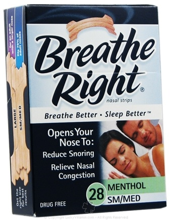 DROPPED: Breathe Right - Nasal Strips Menthol Small/Medium - 28 Strip(s)