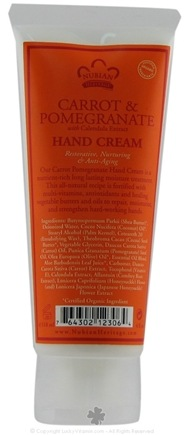 DROPPED: Nubian Heritage - Hand Cream Carrot & Pomegranate - 4 oz.
