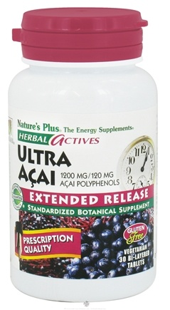 DROPPED: Nature's Plus - Herbal Actives Ultra Acai Extended Release 1200 mg. - 30 Vegetarian Tablets CLEARANCED PRICED