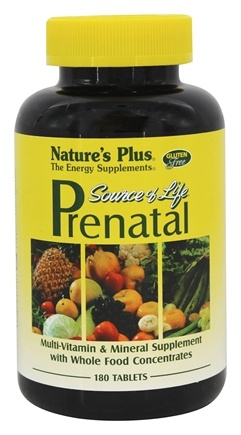 Nature's Plus - Source of Life Prenatal Supplement - 180 Tablets