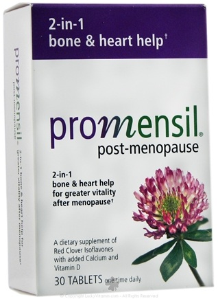 DROPPED: Promensil - Post-Menopause Bone & Heart Help - 30 Tablets