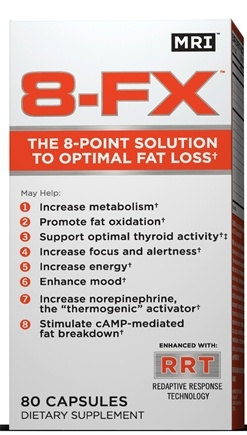 DROPPED: MRI: Medical Research Institute - 8-FX The 8-Point Solution To Optimal Fat Loss - 80 Capsules