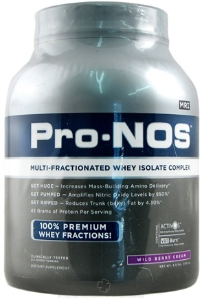 DROPPED: MRI: Medical Research Institute - Pro-Nos Multi-Fractionated Whey Isolate Complex Wild Berry Cream - 3 lbs.