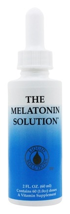 Liquid Solutions - The Melatonin Solution Sublingual Fast-Acting Liquid 1 mg. - 2 oz.