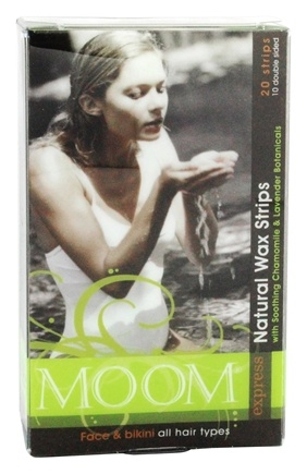 DROPPED: Moom - Face and Bikini Natural Wax Strips for All Hair Types - 20 Strip(s)
