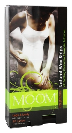 Moom - Legs and Body Natural Wax Strips for All Hair Types - 20 Strip(s)