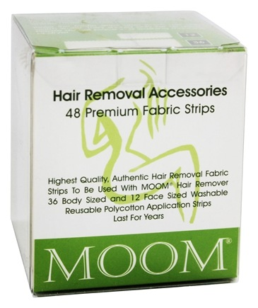 DROPPED: Moom - Hair Removal Premium Fabric Strips - 48 Strip(s)