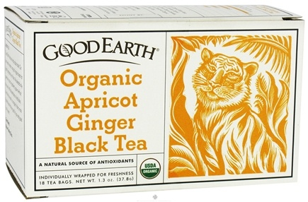 DROPPED: Good Earth Teas - Organic Apricot Ginger Black Tea - 18 Tea Bags