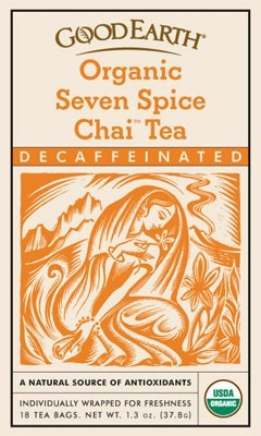 Zoom View - Organic Seven Spice Chai Tea Decaffeinated