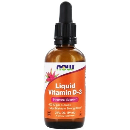NOW Foods - Liquid Vitamin D3 400 IU - 2 oz.