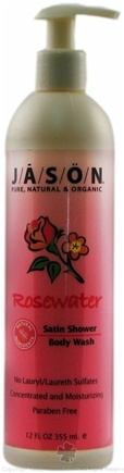 DROPPED: JASON Natural Products - Satin Shower Body Wash Rosewater - 12 oz.