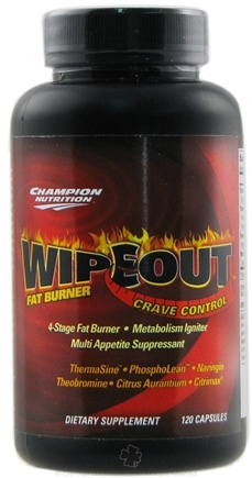 DROPPED: Champion Performance - Wipeout Fat Burner with Crave Control - 120 Capsules