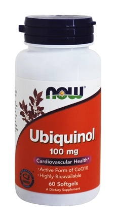 NOW Foods - Ubiquinol 100 mg. - 60 Softgels