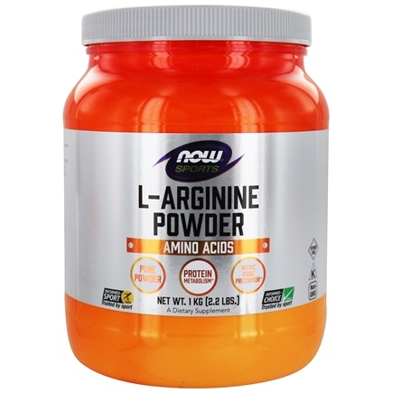 NOW Foods - L-Arginine Powder 100% Pure Free-Form - 2.2 lbs.