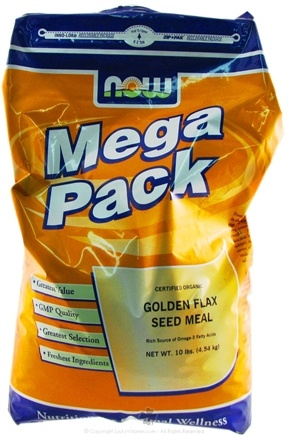 DROPPED: NOW Foods - Certified Organic Golden Flax Seed Meal Mega Pack - 10 lbs.