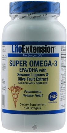 DROPPED: Life Extension - Super Omega-3 EPA/DHA - 120 Softgels